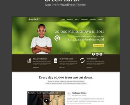 Green Earth – Environmental WordPress Theme
