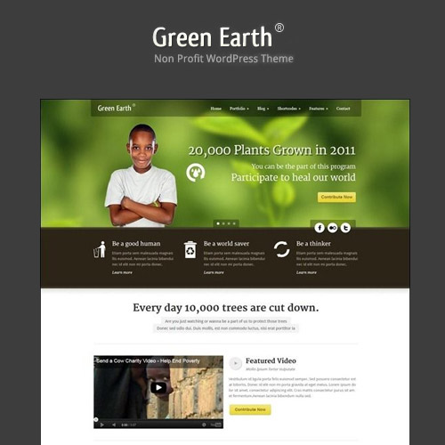 Green Earth – Environmental WordPress Theme