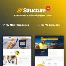 Structure – Construction WordPress Theme
